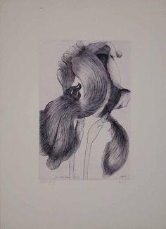An Iris for Lisa - Leonard Baskin prints