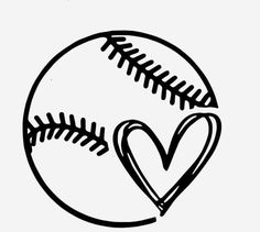 Personalize anything with this baseball/softball heart. Show your love for the g. Personalize anything with this baseball/softball heart. Show your love for the g. Personalize anything with this baseball/softball heart. Show your love for the g. Softball Crafts, Softball Quotes, Softball Shirt Ideas, Softball Tattoos, Softball Stuff, Silhouette Cameo Projects, Silhouette Design, Silhouette Vinyl, Silhouette Files