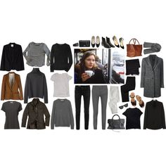 Capsule wardrobe 2015 by eizhowa on Polyvore featuring Margaret Howell, Burberry, Yves Saint Laurent, Theory, Zadig & Voltaire, James Perse, Joie, Pomandère, AG Adriano Goldschmied and Helmut Lang