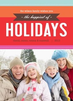 Modern and Bright Holiday Photo Card courtesy of InviteShop.com #holidaycards #cheapholidaycards