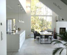 iso ikkuna, saareke, keittiönpöytä, villariva, kivitalo
