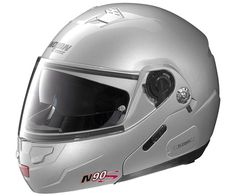 Nolan N90 Special N-Com Modular Metallic Helmet Salt-Silver - No Tax, Free Shipping, Free Returns, Friendly Customer Service! visit SoloMotoParts.com or call 1-714-434-3730