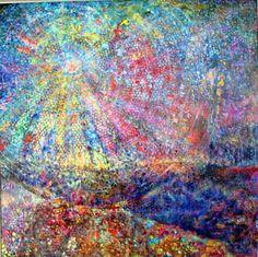 truebluemeandyou: Bubble Wrap Painting PART II. Bubble Wrap Painting, Oil on canvas, by Artist Mary Yim Kliauga. Bubble Wrap Art, Bubble Painting, Painting Art, Paintings, Expressive Art, Collaborative Art, Mixed Media Painting, Elementary Art, Elementary Education