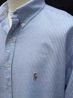 #Polo #RalphLauren #Mens #Yarmouth #Shirt #XXL #Regular #Fit #Blue #White #Striped #Oxford #eBay #triedandtested #menswear