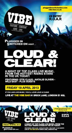 Vibe Bar Poster Art 'LOUD & CLEAR!'