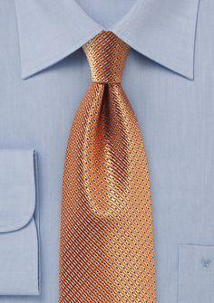 Krawatte Waffelmuster kupfer