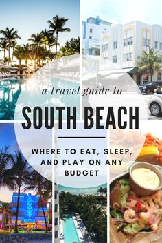 Cue the Latin music and grab your sunglasses, bikinis, and sun tan lotion because this week's weekend guide is taking us to Miami! We're exploring the sultry neighborhood of Miami Beach, with a main focus on South Beach in this edition. Check out this travel guide for tips on where to eat, sleep, and play on every budget in South Beach.