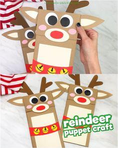 Reindeer Paper Bag Craft For Kids – Crafts Reindeer Paper… - Rentier basteln Paper Crafts For Kids, Christmas Crafts For Kids, Christmas Activities, Craft Activities, Preschool Crafts, Kids Christmas, Diy For Kids, Holiday Crafts, Christmas Printables