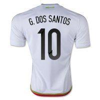 Mexico National Team 2015 G. DOS SANTOS  10 Away Soccer Jersey Mexico  National Team 2015 G. DOS SANTOS  10 Away Soccer jerseys f3c42b21c