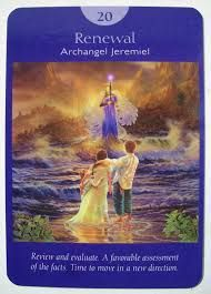 Judgment (Renewal) - Archangel Jeremiel - Angel Tarot Cards by Doreen Virtue and Radleigh Valentine. Artwork by Steve A. Doreen Virtue, Free Tarot Cards, Angel Guidance, Angel Prayers, Oracle Tarot, Angel Cards, Tarot Spreads, Guardian Angels, Card Reading