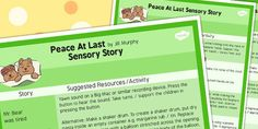 Peace at Last Sensory Story Sheet