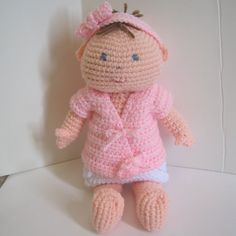 Baby Doll Crochet Pattern finished items by CrochetNPlayDesigns