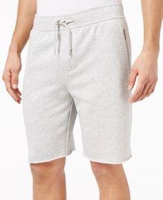 American Rag Men's Raw Edge Knit Shorts, Created for Macy's - Gray 2XL