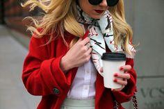 Fab red coat!!