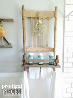 Broken Chair Repurposed into Reclaimed Shelf by Prodigal Pieces | www.prodigalpieces.com