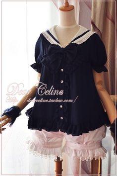 Dear Celine Sailor Style Dolly Blouse