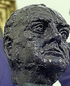 Back in the Oval: The head of Winston Churchill was a work by Jacob Epstein, the renowned ...
