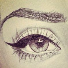 Eye Drawing - if only I had this kind of skill haha