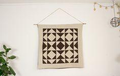 DIY | Wandteppich mit geometrischem Muster | Quilt | Patchwork