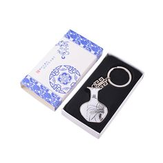 Oriental painting Style Keychain (Orchid)