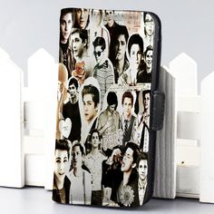 Logan Lerman collage actor movie wallet case for iphone 4,4s,5,5s,5c,6 and samsung galaxy s3,s4,s5 - LSNCONECALL.COM