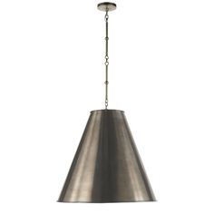 Goodman Hanging Lamp from the Thomas O'Brien collection. Custom Height Available. AN Shade is AW Inside.
