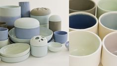 Something more on the softer side of spring coloring, but just as inviting - the Pools Collection by Zoe Garred from Fleet. Each item is handmade in a stoneware ceramic.