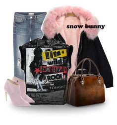 """""""snow bunny"""" by kayira ❤ liked on Polyvore featuring Aspinal of London, Ralph Lauren, Winter, Pink and festival"""