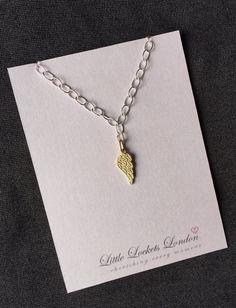 Gold wing bracelet sterling silver delicate by LittleLocketsLondon