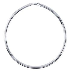6mm Sterling Silver Omega Necklace Chain  18 Inches >>> Find out more about the great product at the image link.Note:It is affiliate link to Amazon.