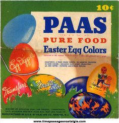 Vintage PAAS Easter Egg Coloring Kit 1960s | Egg coloring, Easter ...
