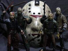 It's officially Halloween! I wanted to add some shots of my two favorite slasher icons, this first is of Jason Voorhees of the Friday the seri. Friday the Horror Movie Characters, Horror Films, Fictional Characters, Jason Voorhees Figure, Happy Friday The 13th, Police Box, Michael Myers, Scary Movies, Lol