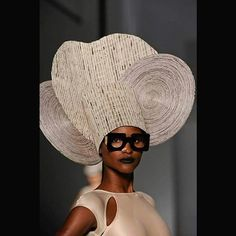 "In Line with ASM's New Issue's Theme ""Recycle,"" Hat made of Paper...Gorg!! #fashion #photography #fashionista #beautiful  #fashionblog #trendy  #photo #color #pretty #creative #paper #blog #bloggers #streetstyle #head #wrap #beautyblogger #art #photooftheday #artistic #design #colorful #designer #style #stylish #thinkoutsidethebox WWW.AFROSTYLEMAG.COM"