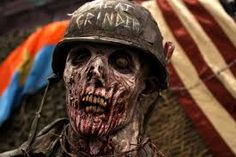Human skin decays when a zombie