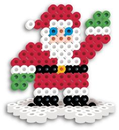Perler Beads Fused Bead Santa by Perler Beads