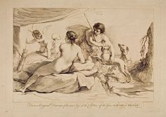 Venus and Adonis. Francesco Bartolozzi. After Guercino (Giovanni Francesco Barbieri).