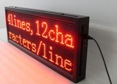 P10 Indoor Red Color LED Sign