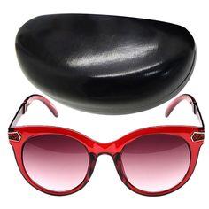 DUBI Damen Sonnenbrille UV400 Damenbrille Kunststoff Rahmen Women Sunglasses Brillenetui Brillenbeutel - Rosa Gläser und Rot Rahmen: Amazon.de: Parfümerie & Kosmetik