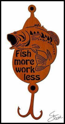 "Scrollsaw Workshop: ""Fish more work less"" Scroll Saw Pattern."