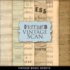 Far Far Hill: Freebies Vintage Music Sheets Kit
