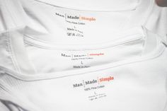 Man Made Simple Pima Cotton Men's Undershirts and t-shirts