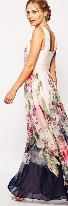 Roses print, Floral print, Roses, Dress, Ted Baker, Maxi Dress