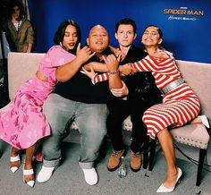 Laura Harrier | Jacob Batalon | Tom Holland | Zendaya | Spiderman | Spider-Man Homecoming press |