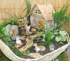 It would be fun for kids to get to look and see want the fairy did in her garden. You could even put a bird house.