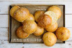 Homemade Hamburger Buns #recipe via FoodforMyFamily.com