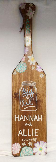AOII paddle with mason jar Sorority
