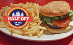 The Hamburger, Fries and Beverage combo is just $5.50 at Quincy's Place during our Half Off at the Hall promotion!   http://www.faneuilhallmarketplace.com/halfoff