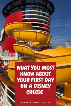 What you really need to know for your first day on a Disney Cruise. Make sure that you know exactly what you need to do on embarkation day so that you can make the most out of your Disney Dream Cruise.