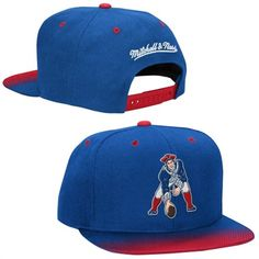 b22fdf4819e Mitchell   Ness New England Patriots Royal Blue Throwback Stop on a Dime  Adjustable Snapback Hat