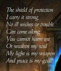 Protective shield- i would change the ending from 'My' to Your or His. Wiccan Spells, Magic Spells, Magick, Witchcraft, Protection Spells, Witch Spell, White Magic, Book Of Shadows, Smudging